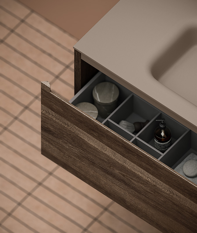 Detail of strato h wood unit