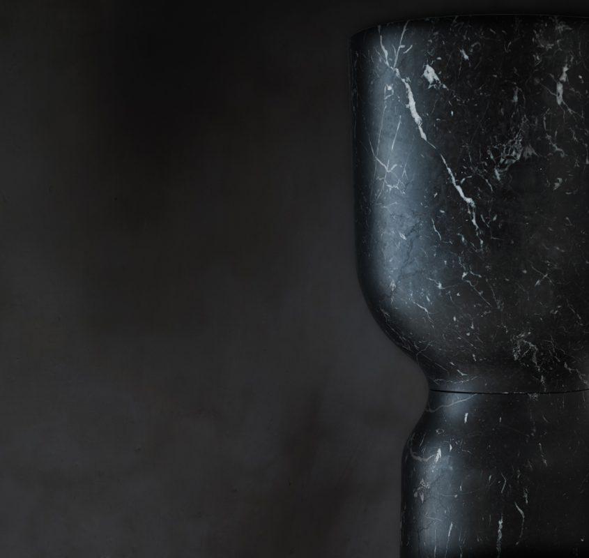 Freestanding washbasin origin black marquina marble