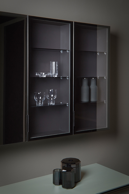Strato Glass Wall Mounted Cabinet Unit