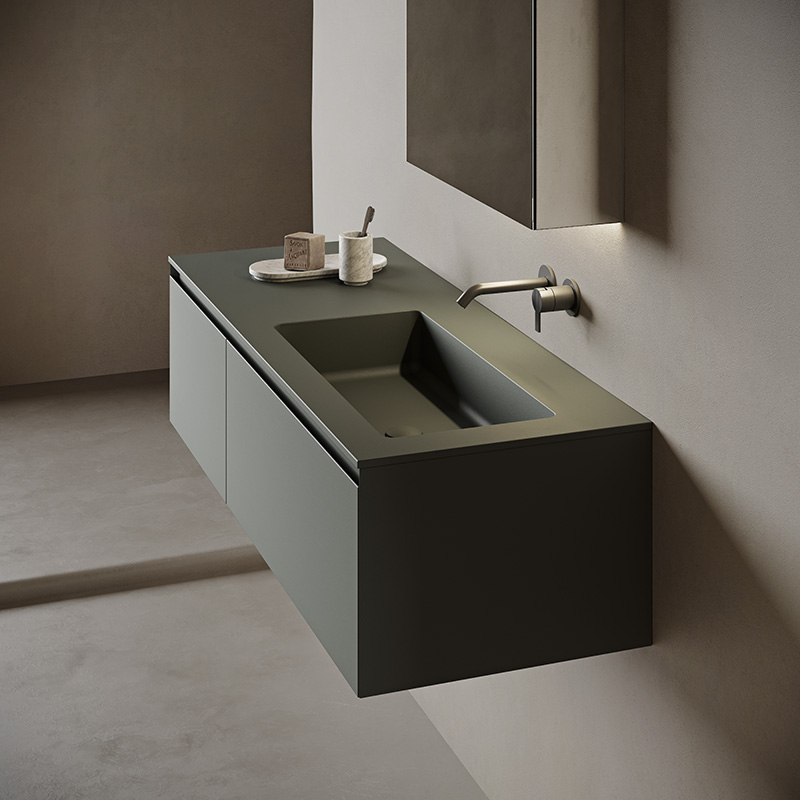 Ambience strato collection dark green monocolor unit with paral integrated top