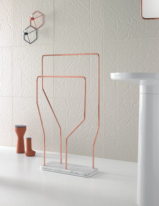 Bowl Glossy Copper Towel Rack Accessories