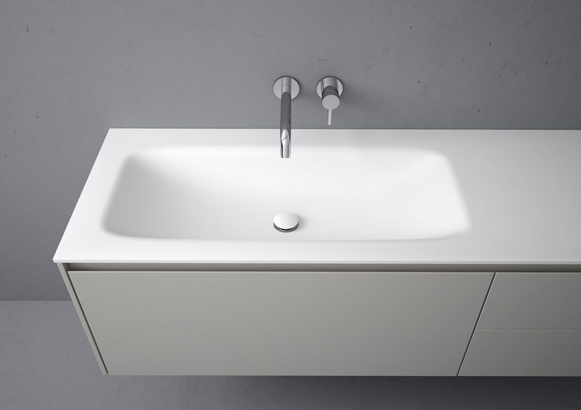 D3 Corian® Integrated Washbasin Top