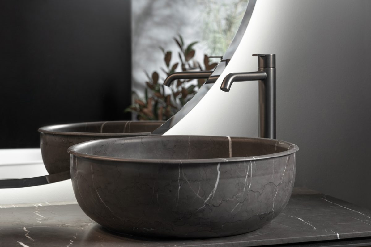 Prime Pietra Grey Marble Top Mounted Washbasin