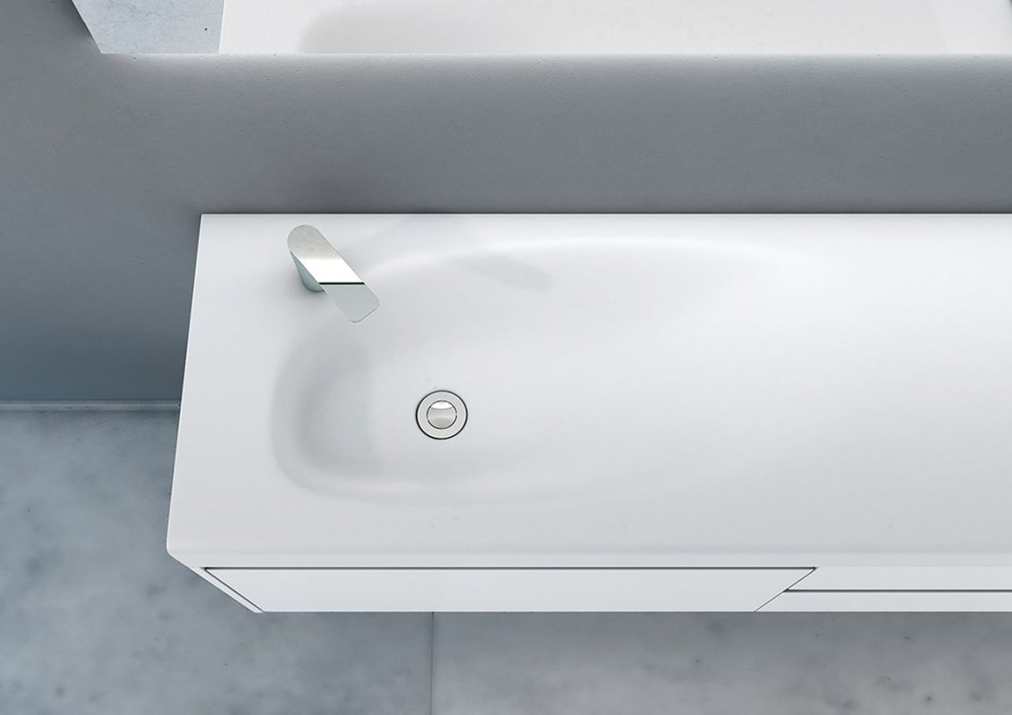 F1 Corian® Integrated Washbasin Worktop