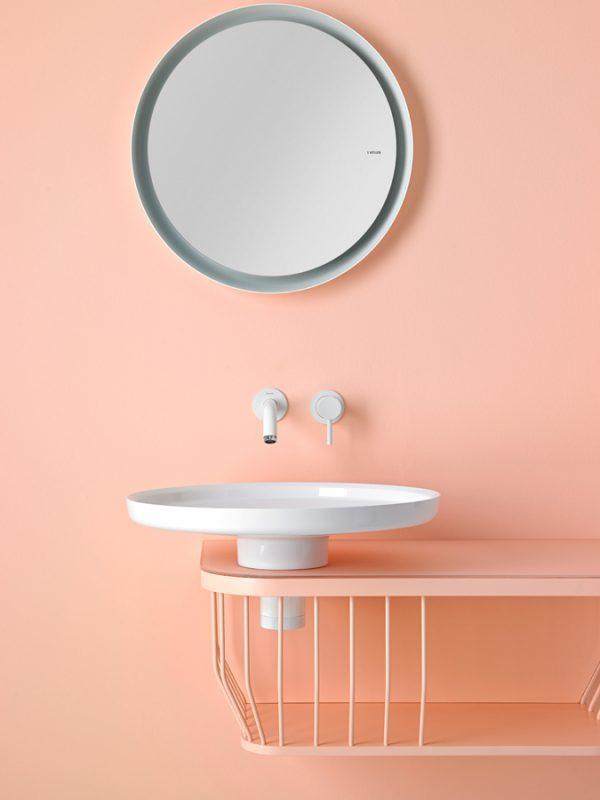 Bowl Mirror Aluminium Frame Mirror