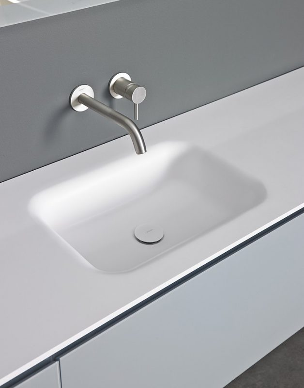 Float Solidsurface Integrated Washbasin Top