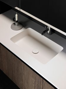 H2 Solidsurface Integrated Washbasin Worktop