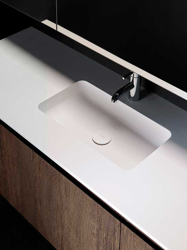 H2 Solidsurface Intagrated Washbasin Top