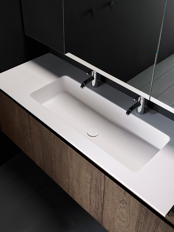 H8 Solidsurface Integrated Washbasin Worktop
