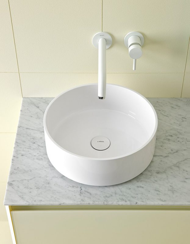 Glaze Topsolid Topmounted Washbasin