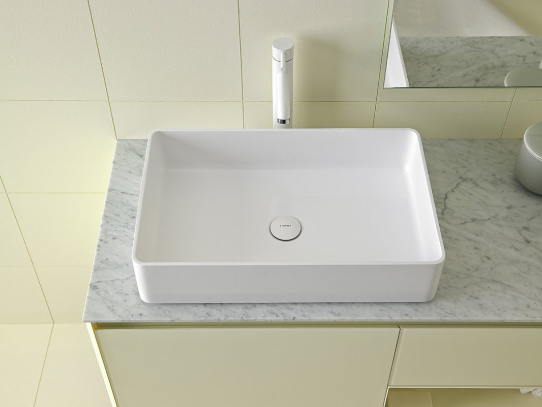 Glaze Topsolid Top mounted Washbasin