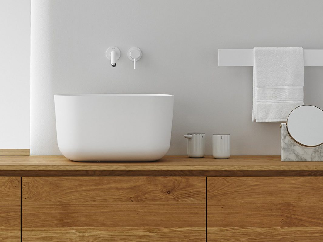 cFontain Solidsurface Top mounted Washbasin