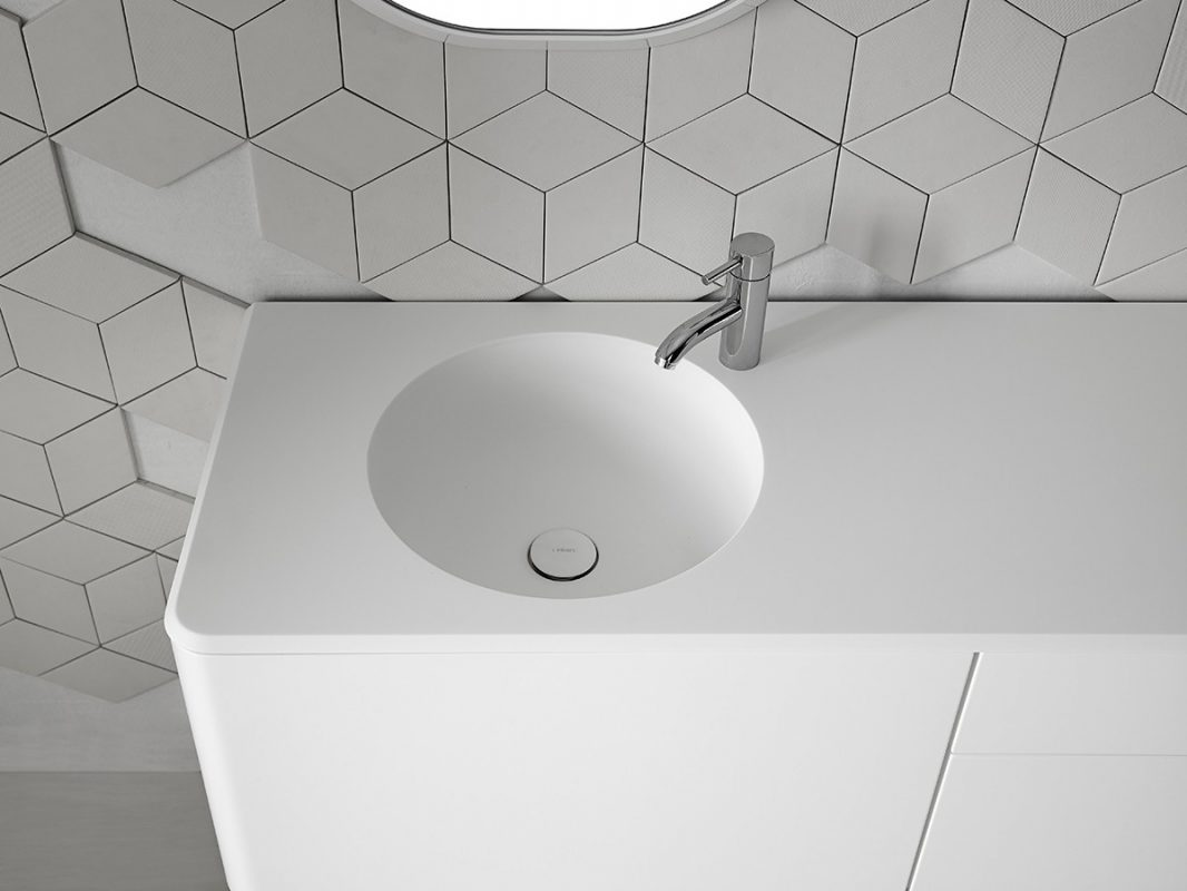 Cerclo Corian® Integrated Washbasin Worktop