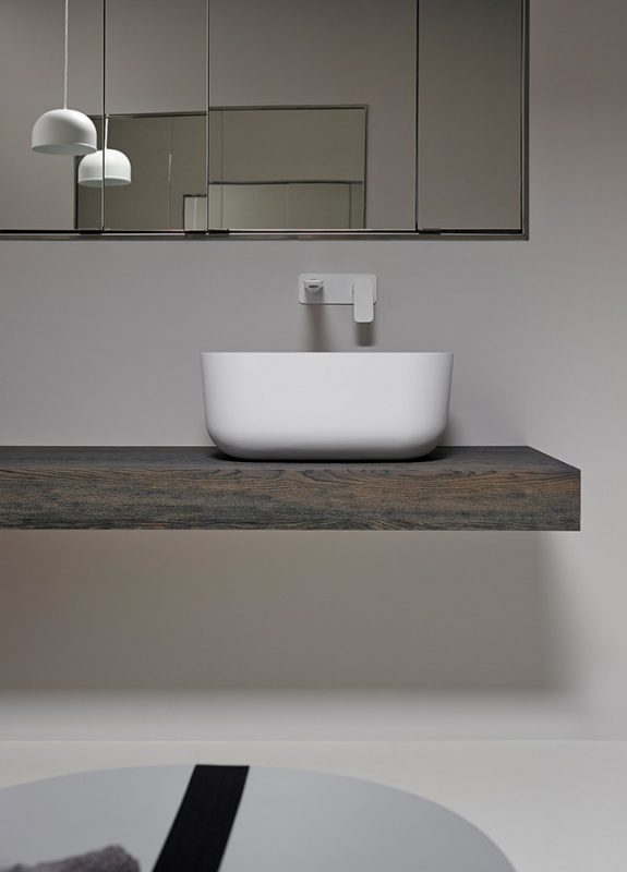 Fontain Solidsurface Top mounted Washbasin