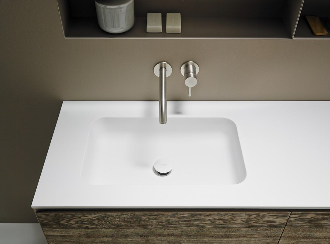 Quadro Corian® Integrated Washbasin Worktop