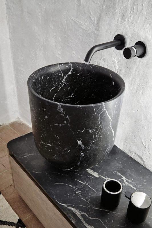 Origin Marquina Marble Top Mounted Washbasin