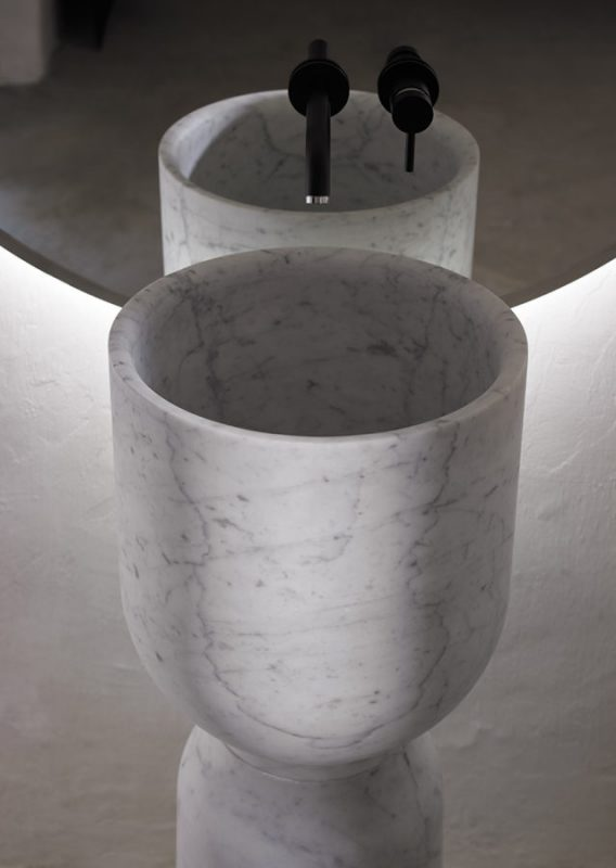 Origin Carrara Marble Top Mounted Washbasin
