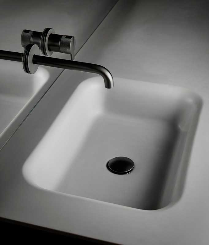 Grey UHS colour coating Intagrated Washbasin Top