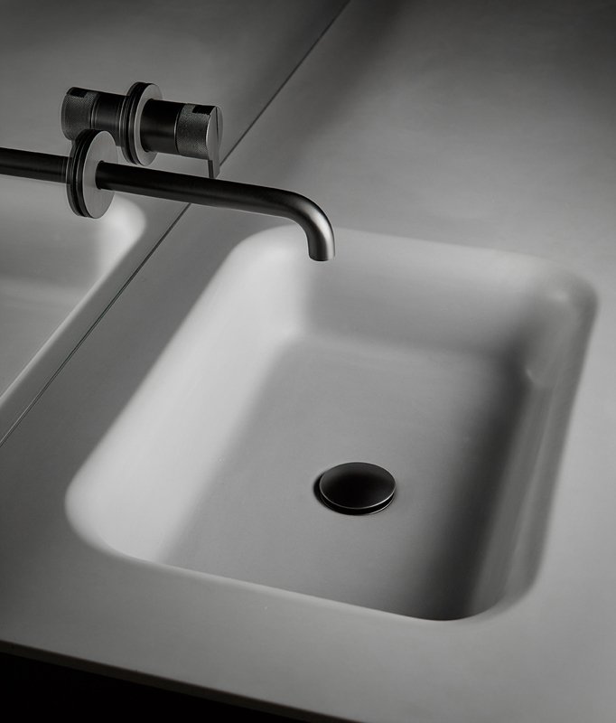 Float Cementsolid Integrated Washbasin Worktop