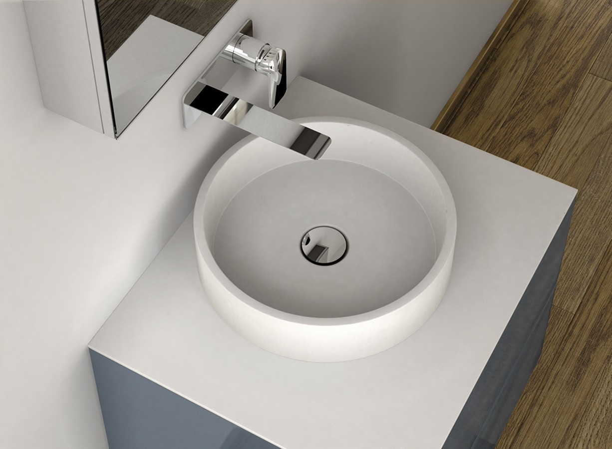 LA431 Solidsurface Top Mounted Washbasin