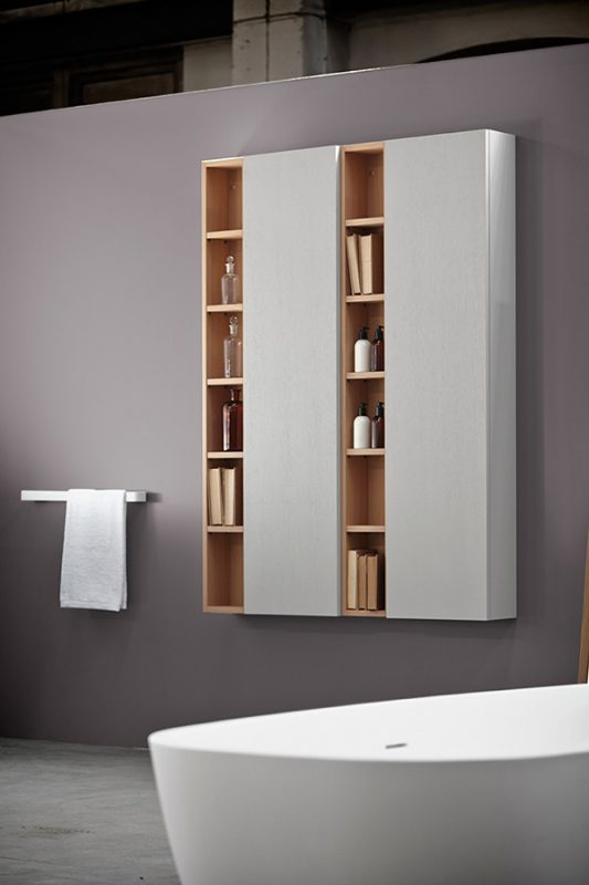 Strato Wood Wall Mounted Cabinet Unit