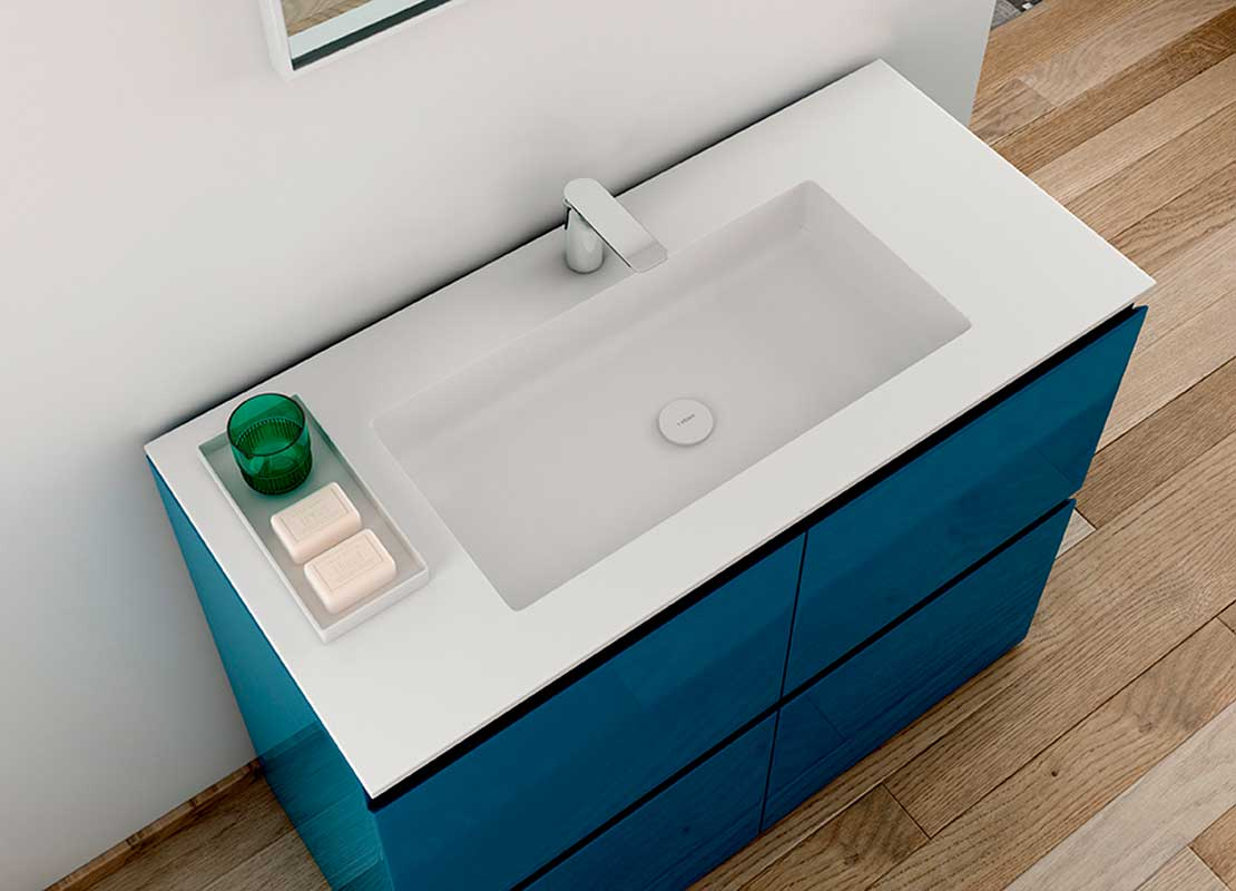 H6 Solidsurface Intagrated Washbasin Top