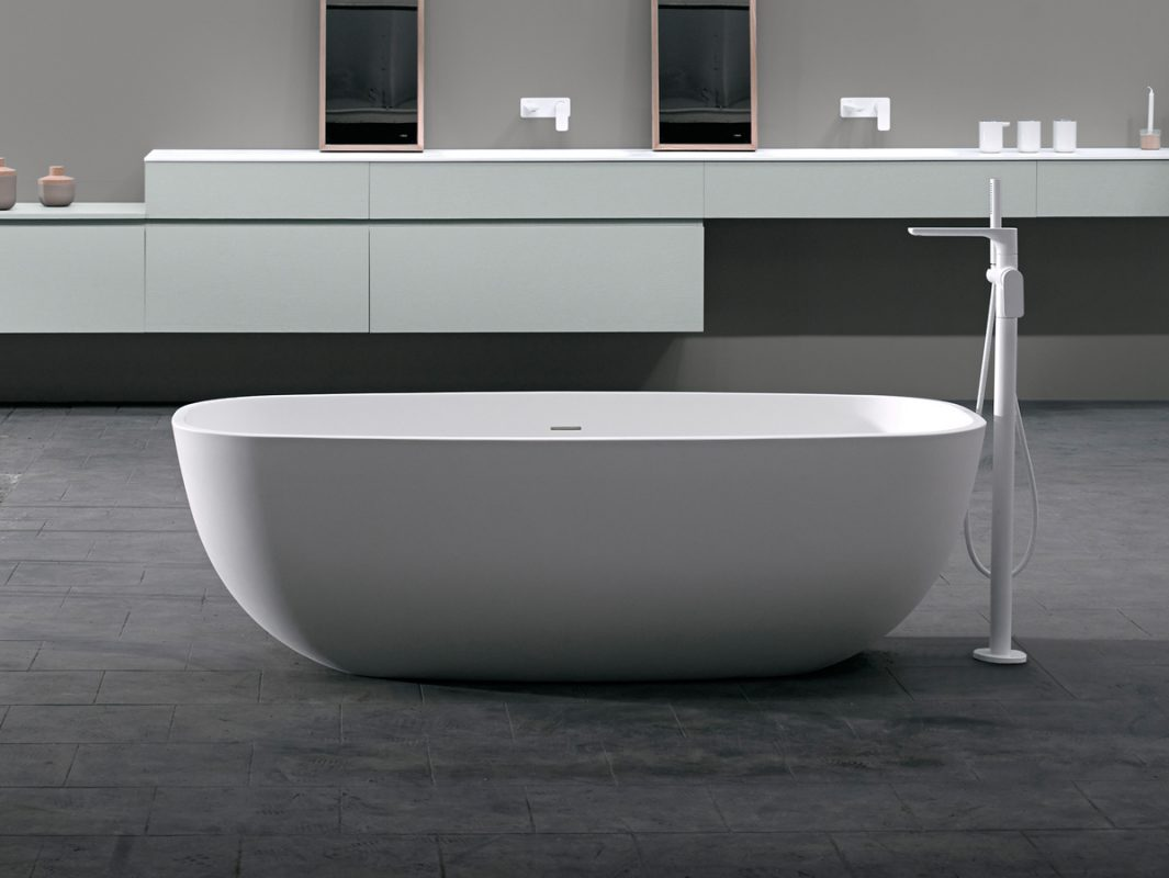 Temple Solidsurface Freestanding Bathtub