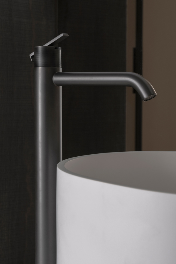 Code Brushed Graphite Freestanding Tap