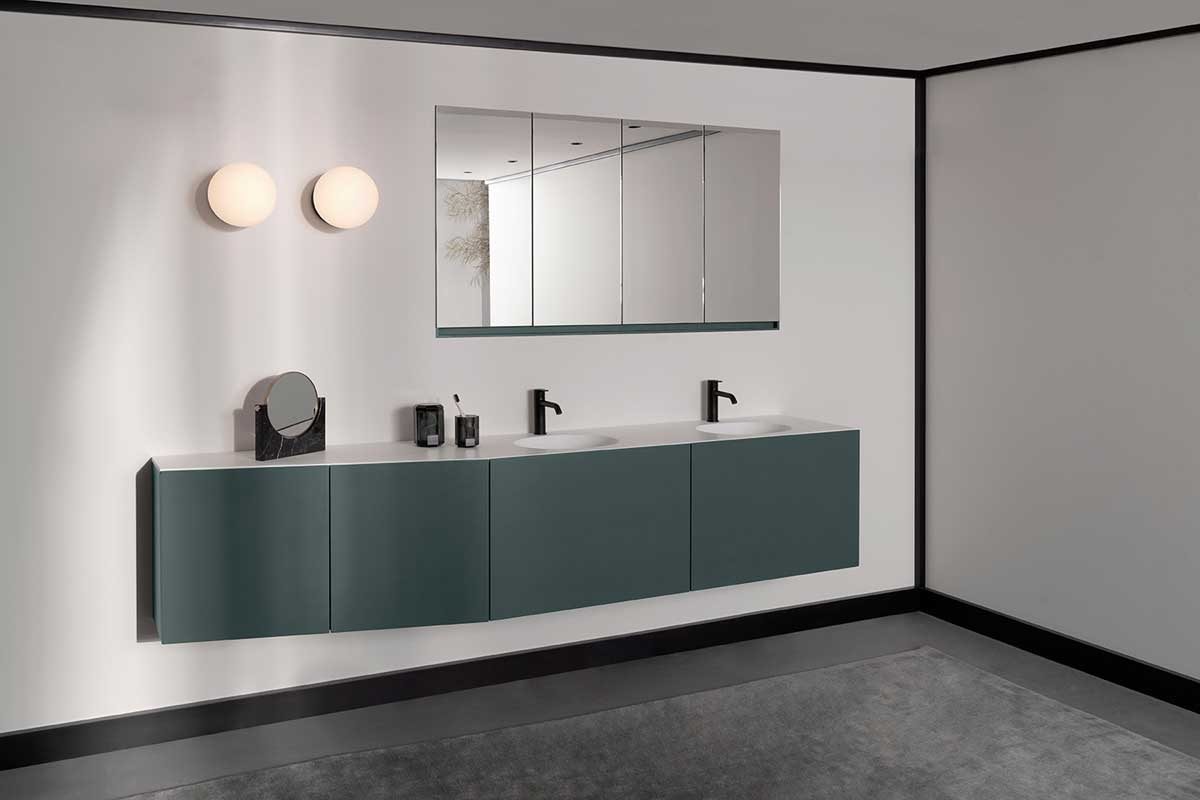 Forma collection ambient with bathtubs, units, taps and mirrors