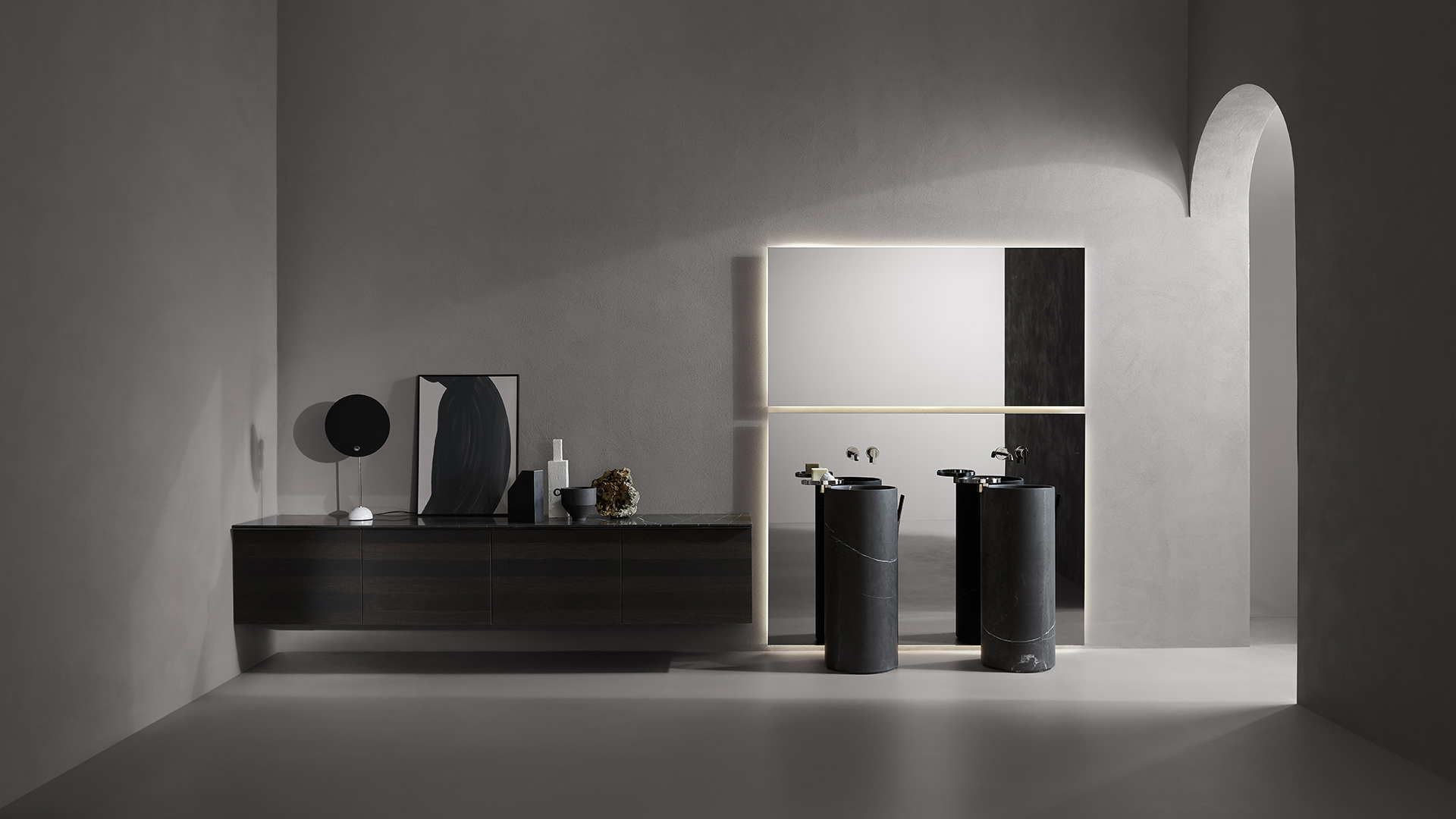 Giro collection ambient with 2 washbasins
