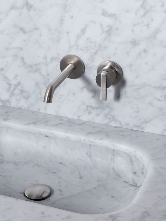 Code Brushed Inox Wall Mounted Tap