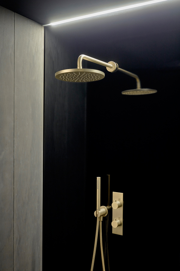 Code Brushed Gold Wall Mounted Tap