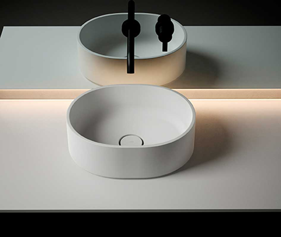 Giro Solidsurface Top Mounted Washbasin