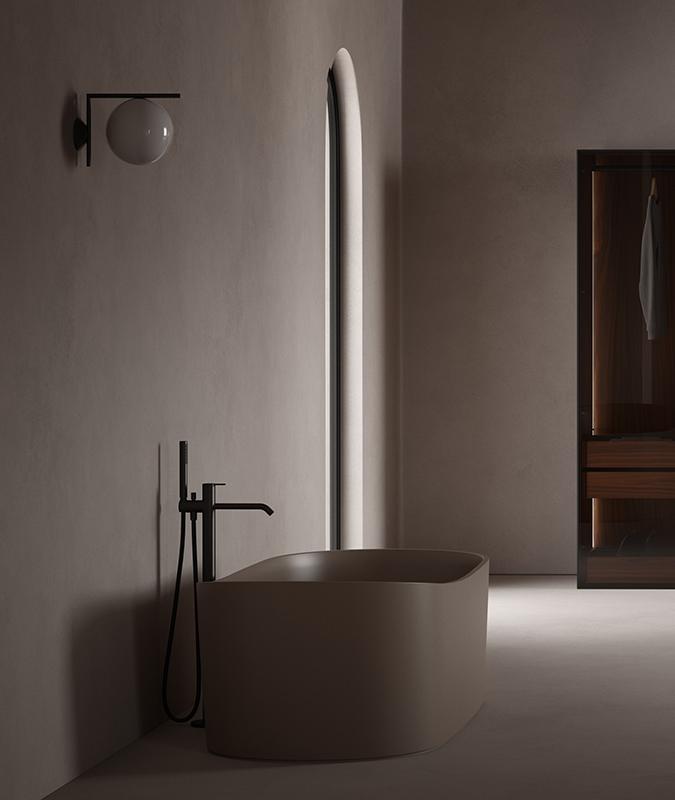 Giro UHS Colour Brown Freestanding Bathtub
