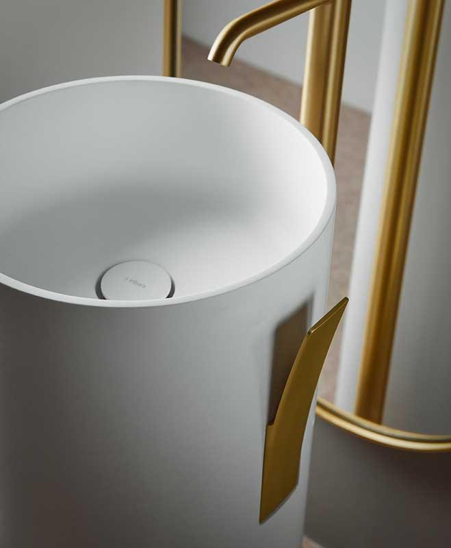 Giro Solidsurface Freestanding Washbasin Detail