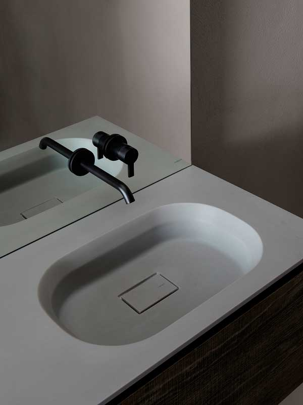 Cube Cementsolid Intagrated Washbasin Top