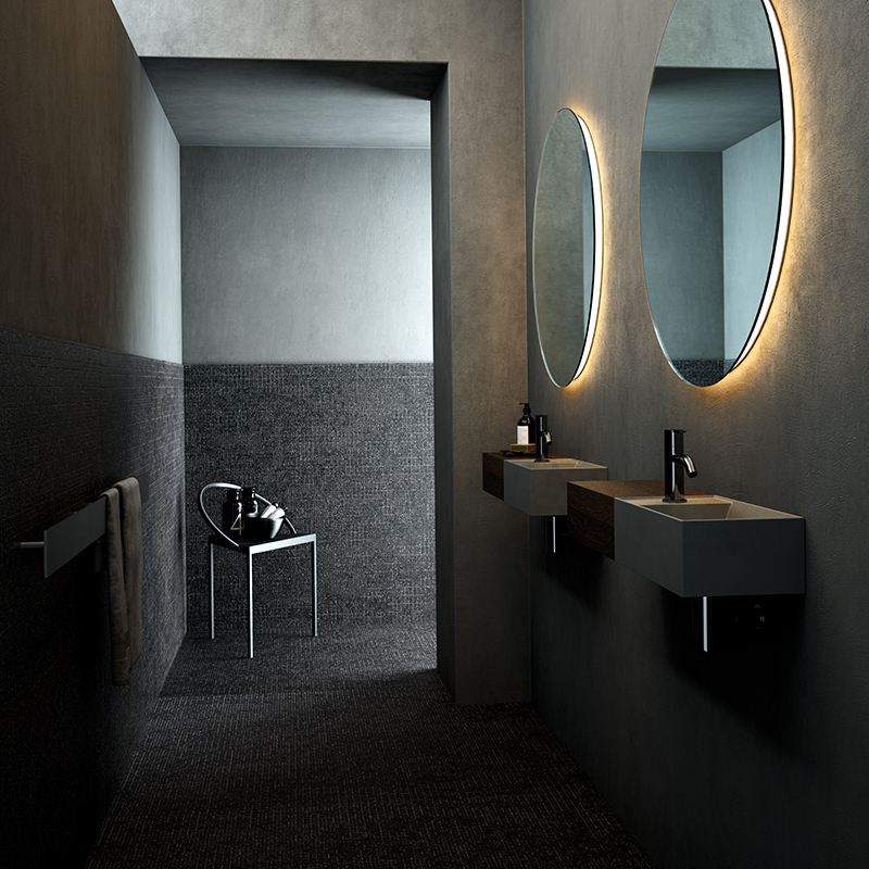 grey USH colour coating washbasin from facett collection