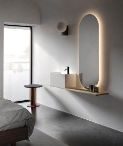 Facett Solidrsurface Topmounted Washbasin