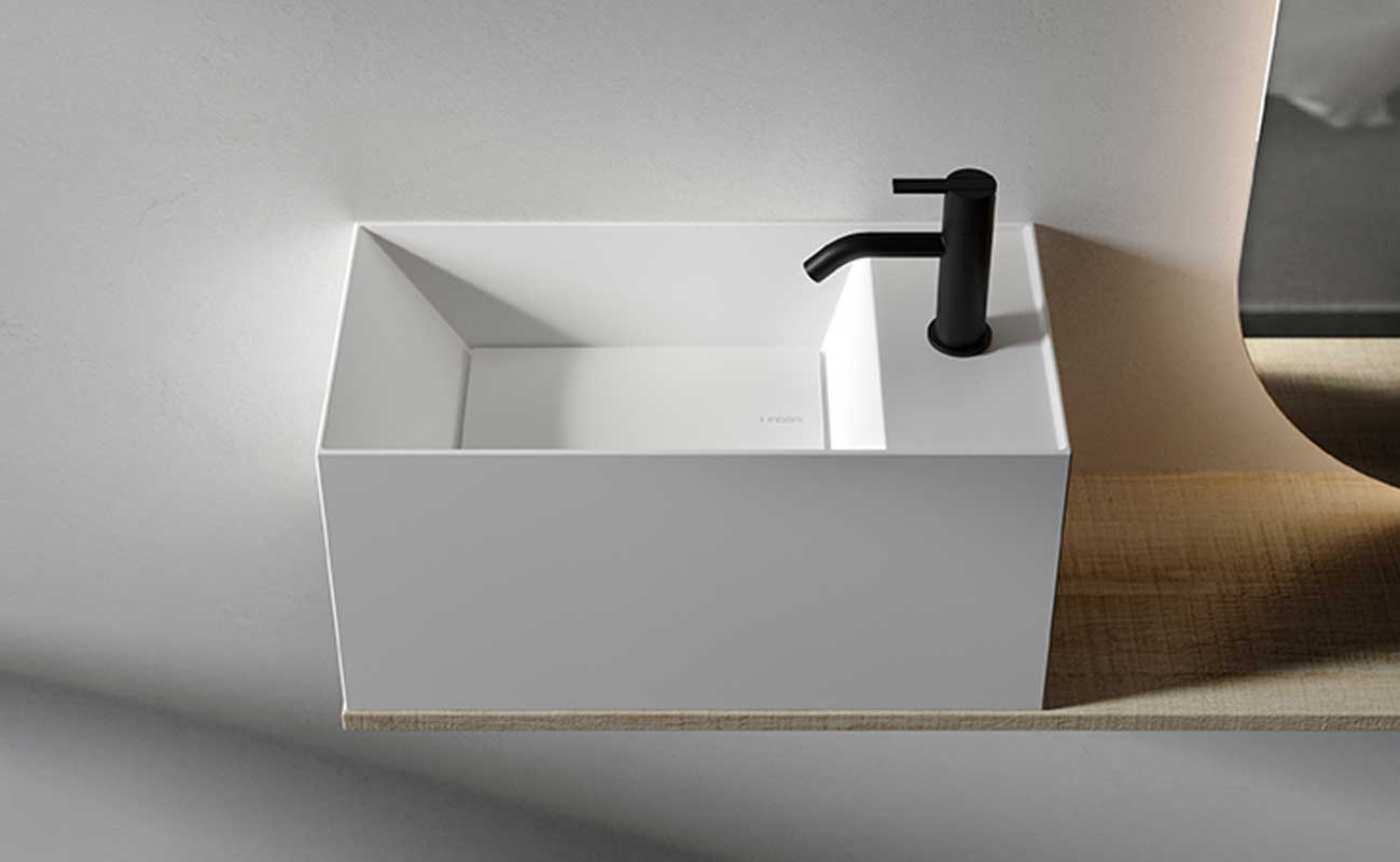 Facett Solidsurface Wall Mounted Washbasin