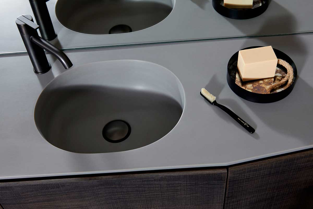 Giro Grey UHS colour Integrated Washbasin Top