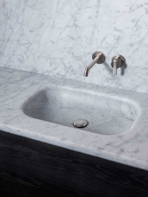 Senio Carrara Marble Intagrated Washbasin Top