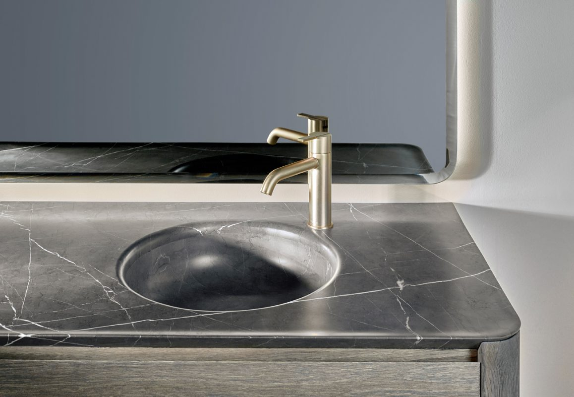 Prime Pietra Grey Marble Integrated Washbasin Top