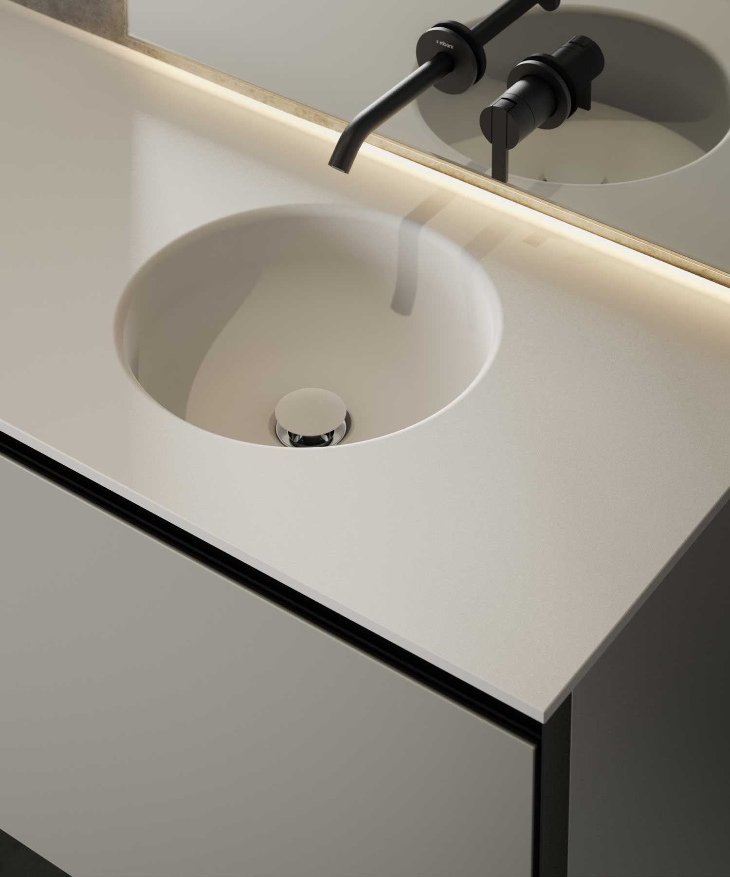 Prime Cementsolid Intagrated Washbasin Top