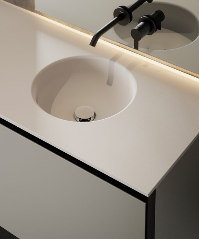 Prime Cementsolid Integrated Washbasin Top