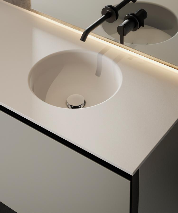 Prime Solidsurface Integrated Washbasin Worktop