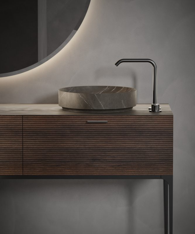 pietra grey marble top mounted washbasin from arc collection