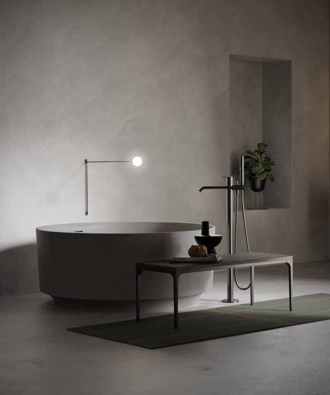 Rounded UHS colour coating bathtub from Arc colletion