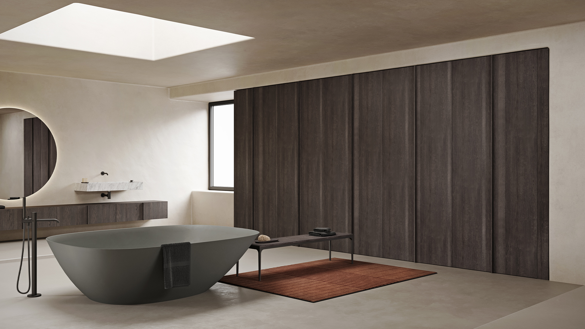 Minimal wood wardrobe from Paral collection